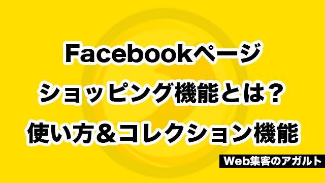 Facebookページショッピング機能とは?使い方&コレクション機能